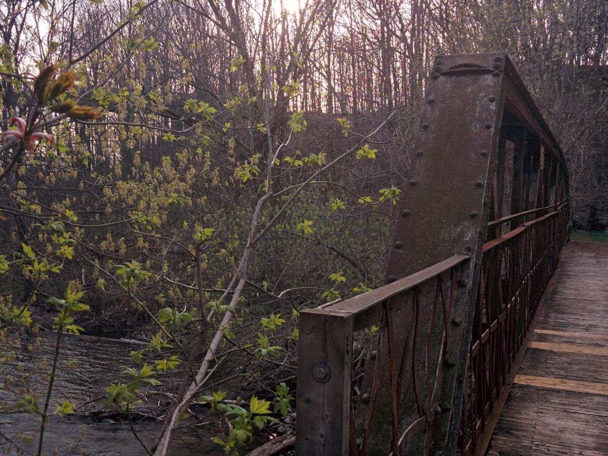 Old bridge across the Saugeen River at Krug Memorial Park in Chesley