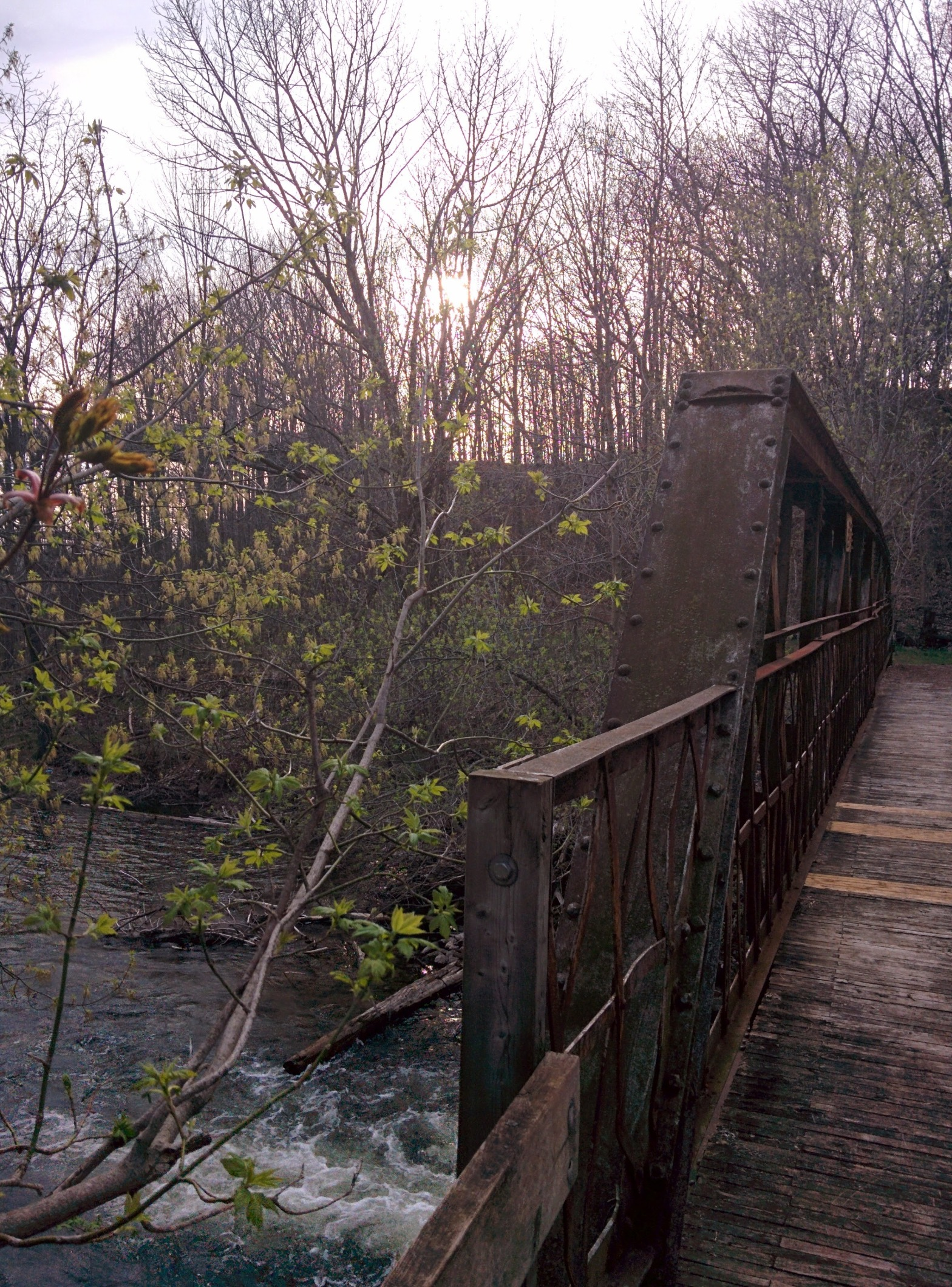 Old bridge across the Saugeen River at Krug Memorial Park in Chesley